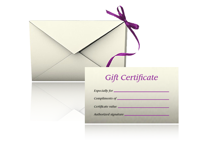 Gift Certificates Available In Any Denomination